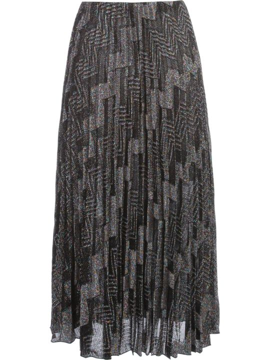 M Missoni Skirt Pleated Zig Zag Lurex