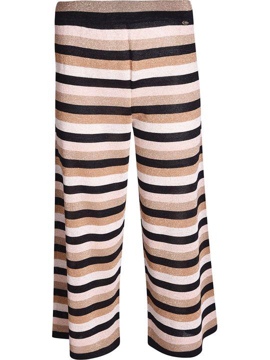 Elisabetta Franchi Celyn B. Striped Print Wide Trousers