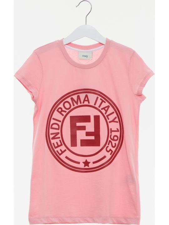 Fendi T-shirt Jersey Tinto Peonia