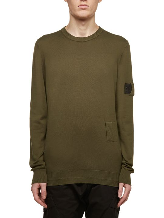 Stone Island Shadow Project Logo Sleeve Sweater