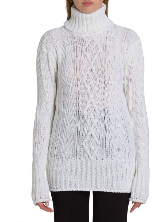Thom Browne Stripe Back Turtleneck Sweater