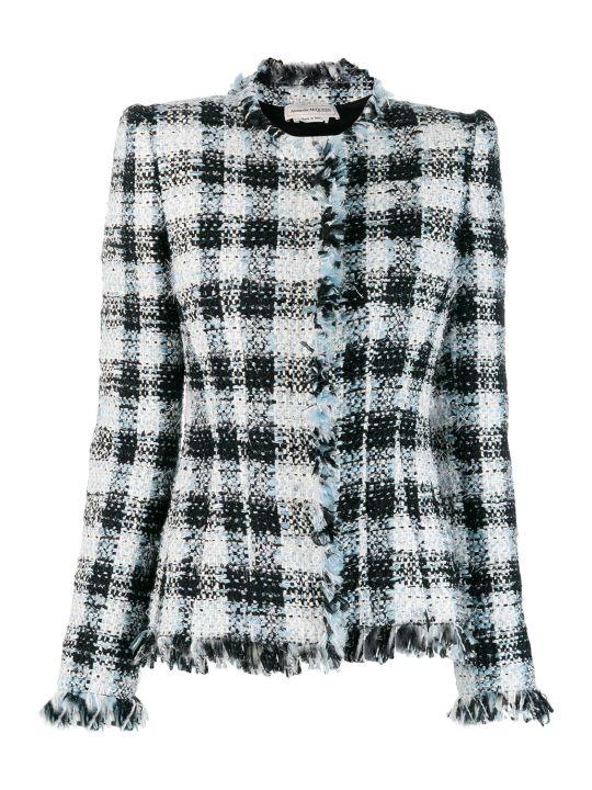 Alexander McQueen Jacket Check Tweed