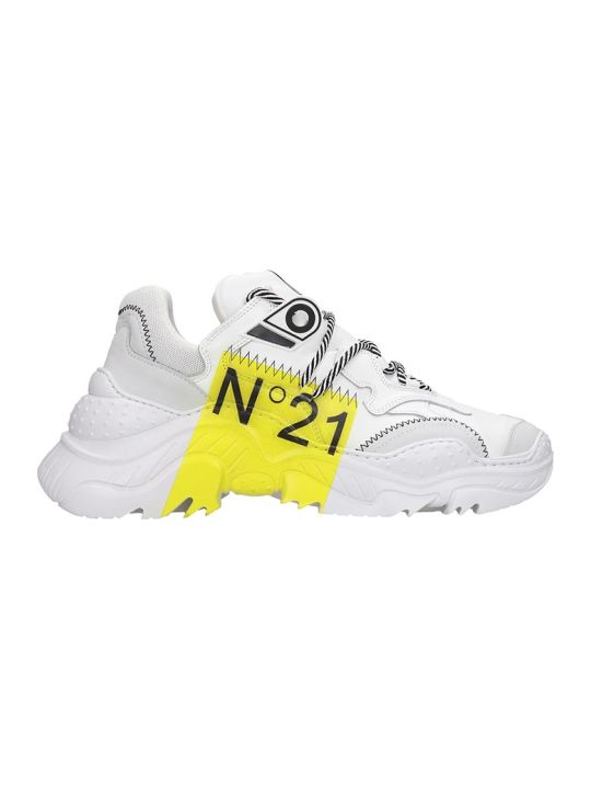 N.21 Billy Sneakers In White Leather