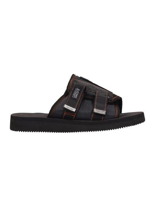 SUICOKE Rubber Black Sandals