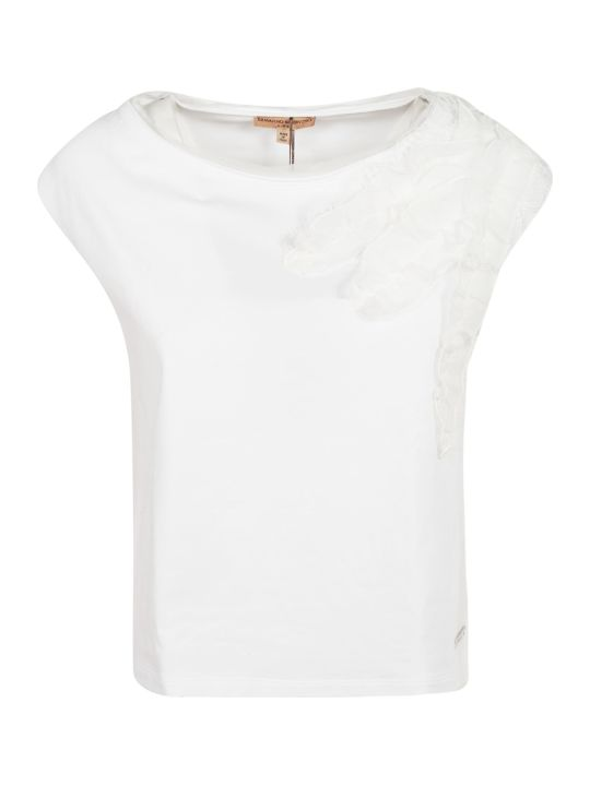 Ermanno Scervino Ruffled Detail T-shirt
