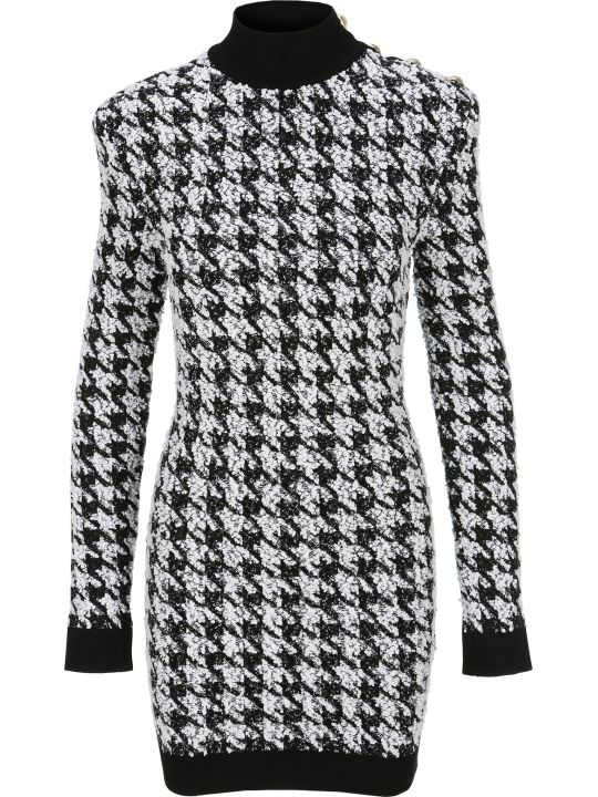 Balmain Pied De Poule Mini Dress