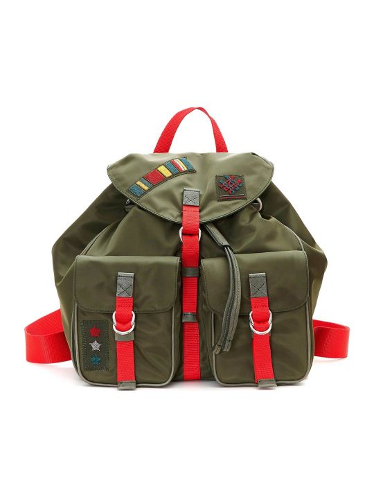 Mr & Mrs Italy Compact Rainproof Army Travel Backpack