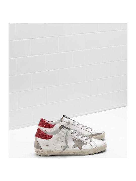 Golden Goose Sneakers Red Glitter