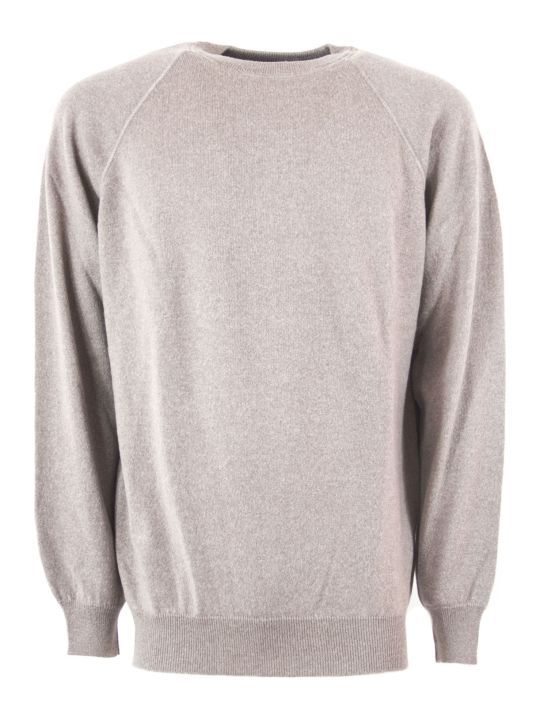 Fedeli Beige Virgin Wool Sweater