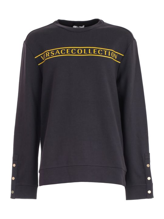 Versace Collection Sweatshirt Crew Neck Sleeve W/button