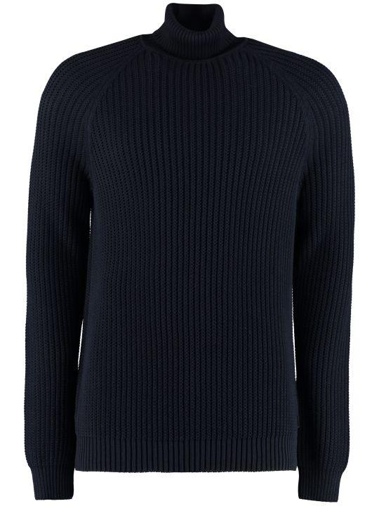 BOSS Black Cotton Turtleneck Sweater