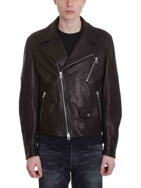 DROMe Black Leather Biker Jacket