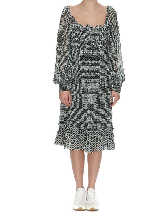 Proenza Schouler Crepe Chiffon Dress