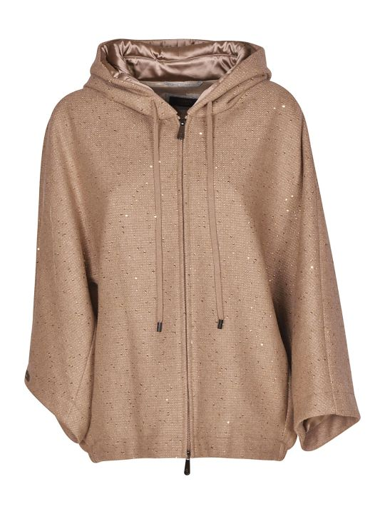 Peserico Paillettes Hooded Jacket