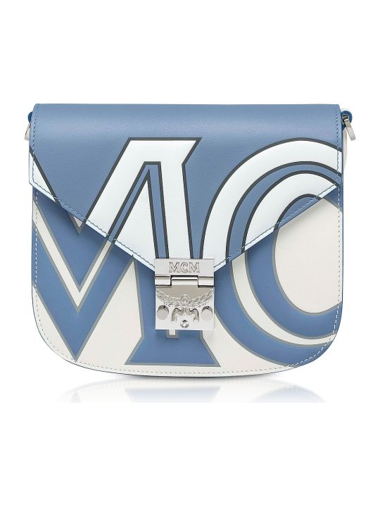 MCM Small Patricia Contrast Logo Shoulder Bag