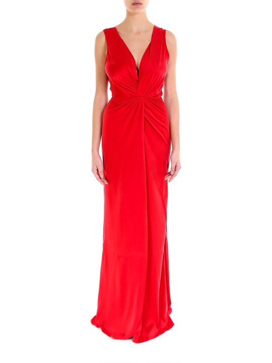 AMIRI Deep V Silk Dress