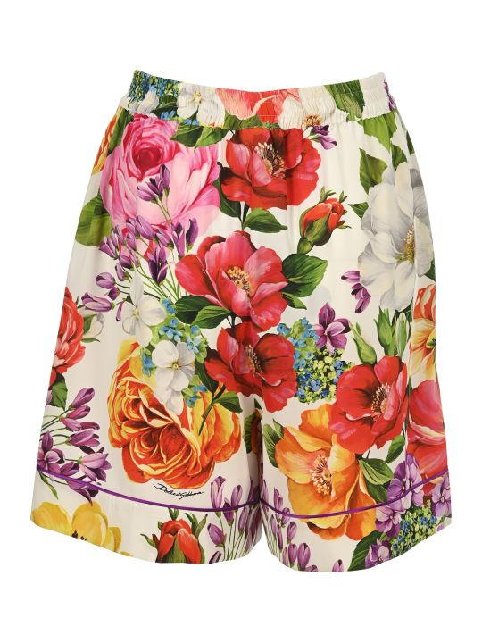 Dolce & Gabbana Dolce&gabbana Floral Print Knee-length Shorts