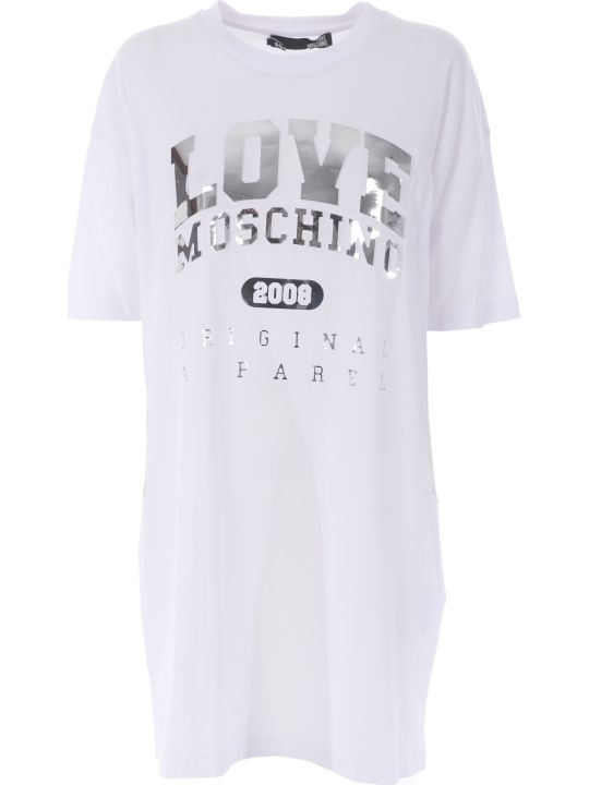 Love Moschino Logo Printed T-shirt Dress
