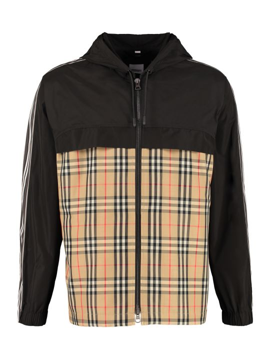 Burberry Hooded Taffeta Jacket