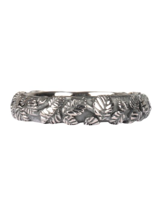 Ugo Cacciatori Tiny Leaves Silver Ring
