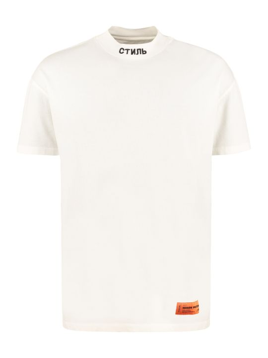 HERON PRESTON Embroidered Cotton T-shirt