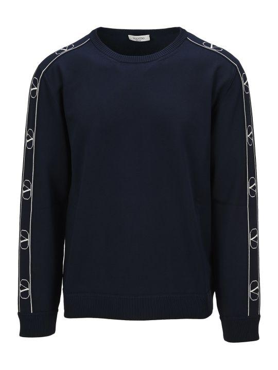 Valentino V Logo Stripe Sweater