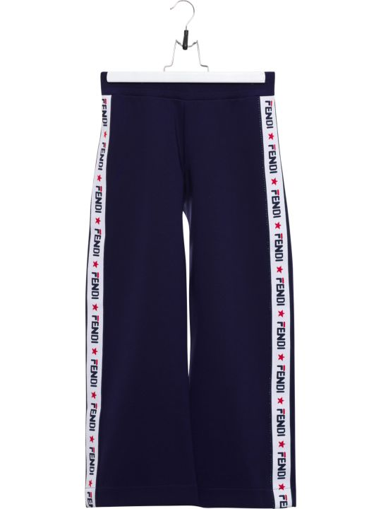 Fendi Neoprene Joggers With Logo Taping