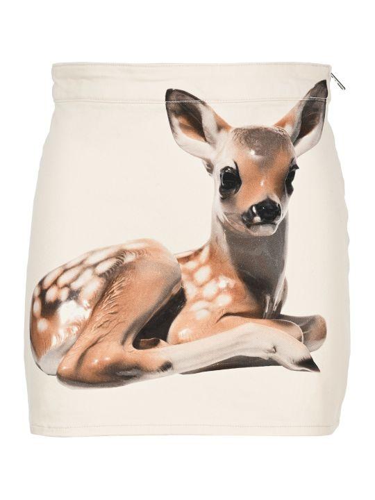 Burberry London Deer-print Skirt