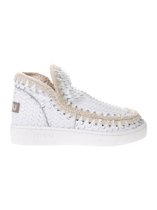 Mou Summer Eskimo Special Leather White Leather Shoes