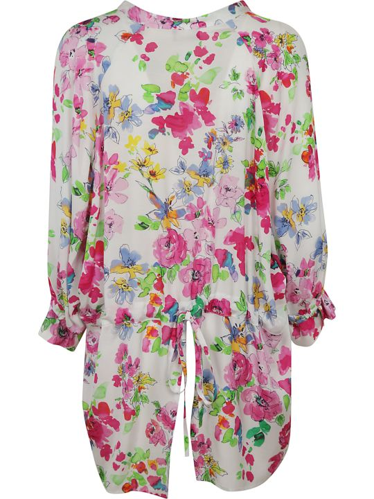 Ermanno Scervino Floral Print Ruffled Shirt