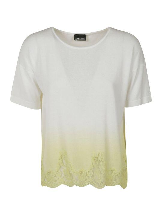Ermanno Scervino Laced Hem T-shirt
