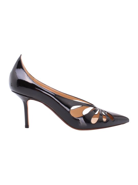 Francesco Russo Cut-out Leather Pumps