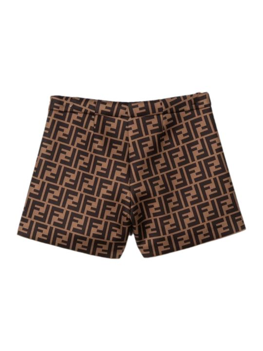 Fendi Brown Ff Shorts