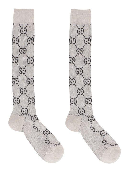 Gucci Gg Motif Cotton-blend Socks