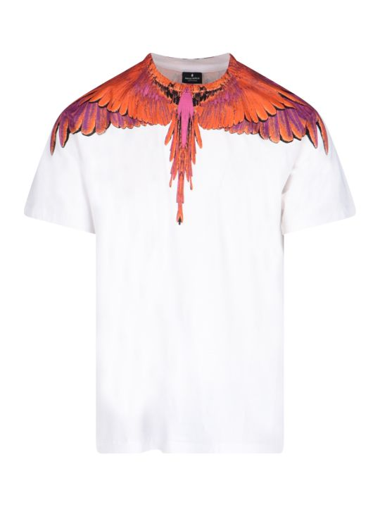 Marcelo Burlon Red Ghost Wings Printed T-shirt