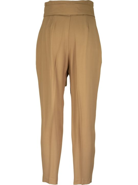 Elisabetta Franchi Celyn B. Gabardine Trousers With Bow