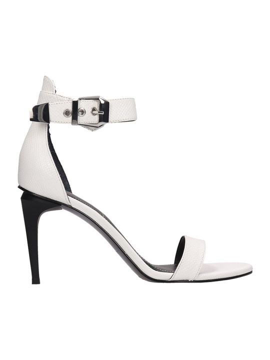 Kendall + Kylie White Leather Millla2b Sandals