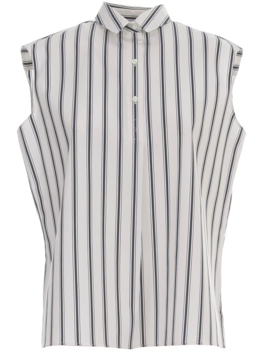 Aspesi Striped Flared Shirt W/s 3 Buttons