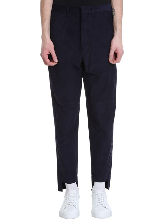 Maison Flaneur Chino Blue Velour Pants