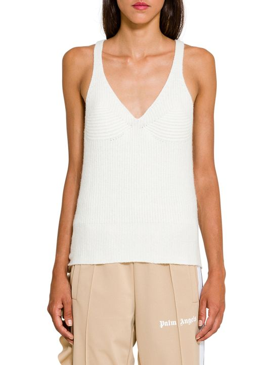 Circus Hotel Ribbed Knit Tank Top