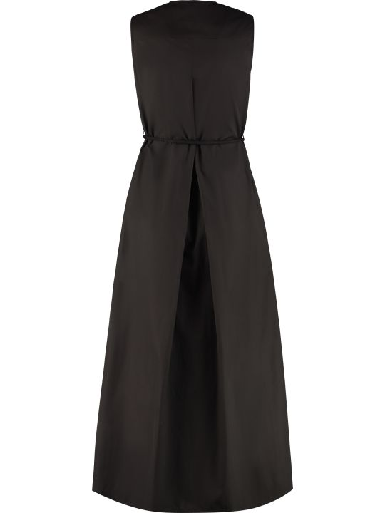 Max Mara Studio Bruna Belted Cotton Dress