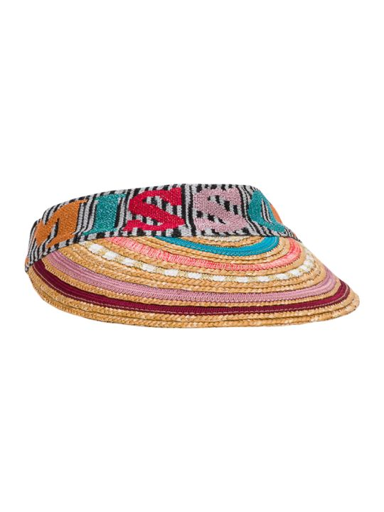 Missoni Cappello Visiera Paglia Con Logo