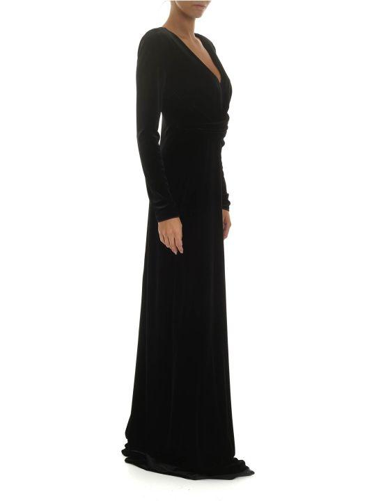 Emporio Armani Long Velvet Dress