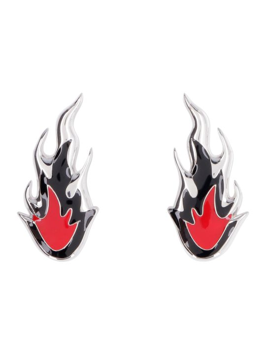 AMBUSH Flame Silver Earrings
