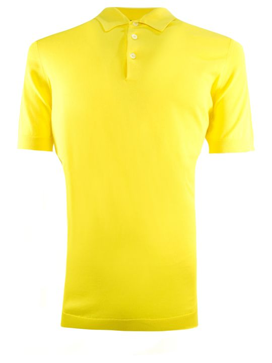 Drumohr Yellow Cotton Polo Shirt