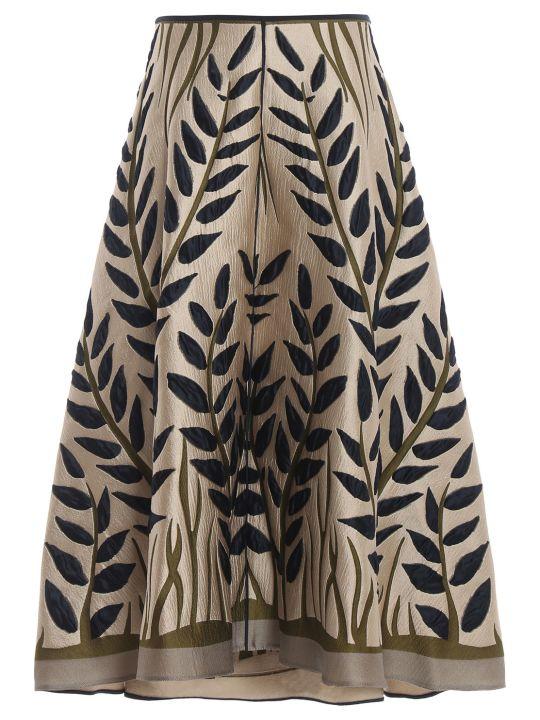 Fendi Embroidered Flared Skirt