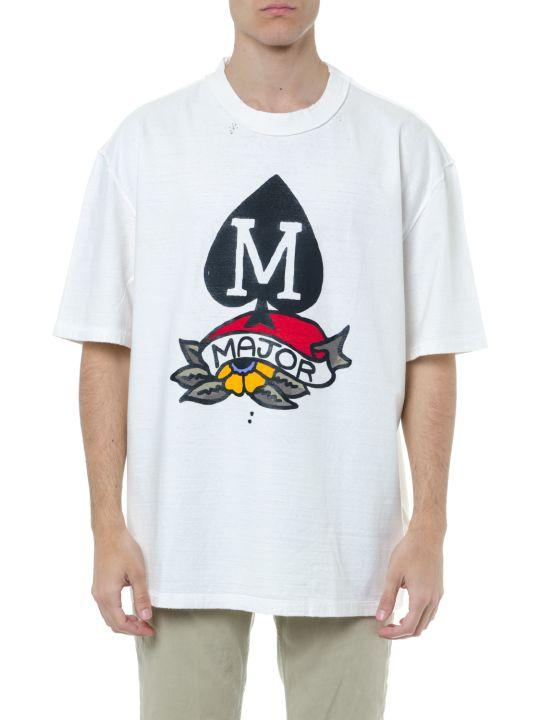Maison Margiela White Cotton T-shirt With Print