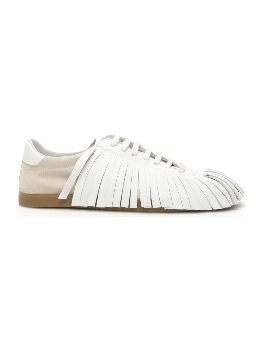 Lanvin Fringed Leather Sneakers
