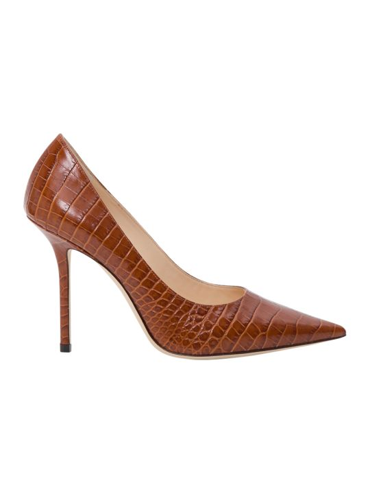 Jimmy Choo Love100 Snakeskin Pumps