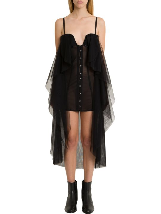 Ben Taverniti Unravel Project Bustier Dress With Mantle